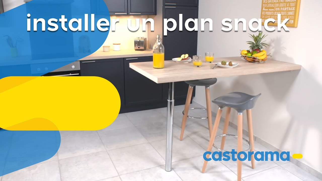 Ilot Central Snack Comment Installer Une Table Murale Dans La Cuisine Castorama