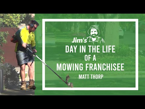 Day In The Field With Jim's Mowing Franchise Owner Matt Thorp | 131 546 | Www.jims.net