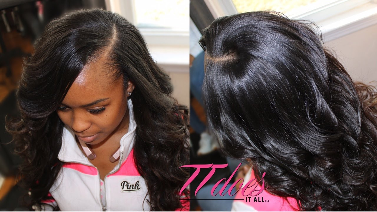 How To Cut A Deep Side Part Sew In
