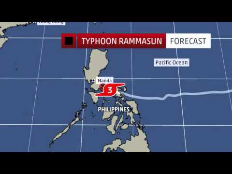 Typhoon Rammasun Glenda Ripping Through the Philippines