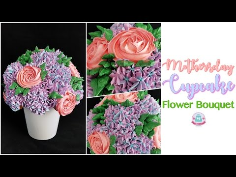 *Bonus* HOW TO MAKE A MOTHERSDAY CUPCAKE FLOWER BOUQUET| Abbyliciousz The Cake Boutique