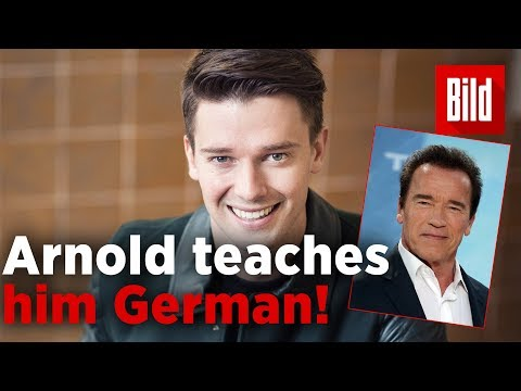 Patrick Schwarzenegger: His father Arnold taught him German / full interview in english