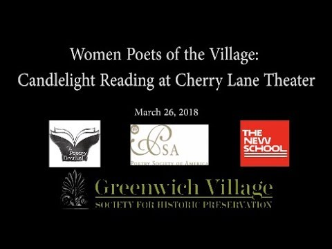 Women Poets of the Village: Candlelight Reading at Cherry Lane Theater  3-26-18
