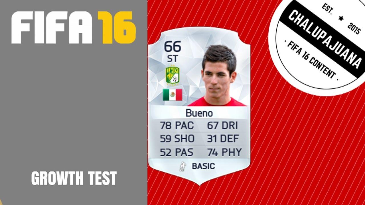 FIFA 16 | Marco Bueno | Growth Test - YouTube