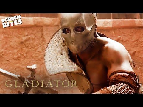 Gladiator  First Battle In The Arena  Russell Crowe and Joaquin Phoenix