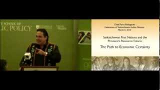 JSGS Public Lecture~Saskatchewan First Nations and the Province's Resource Future
