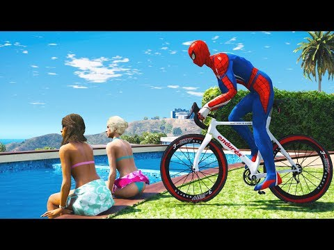 SPIDERMAN Water Ragdolls | GTA 5 Jumps/Fails #8 (Euphoria Physics | Funny Moments | Ragdoll)