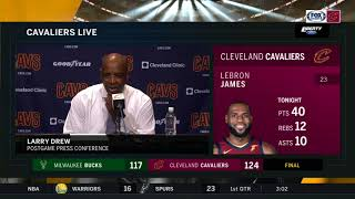 Cavs associate head coach Larry Drew's postgame comments after win over Bucks