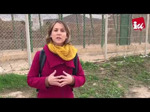 Marina Albiol, eurodiputada de IU, desde la Frontera Sur en Melilla