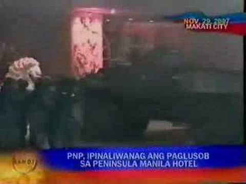 Sen Antonio Trillanes IV Bgen Danilo Lim crushed in Manila Pen Hotel ABS CBN ang BANDILA NEWS