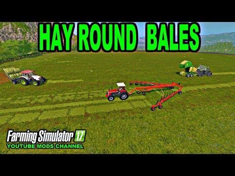 Farming Simulator 17 Let's Make Some Hay Round Bales