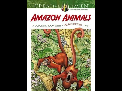 Flip Through Dover Creative Haven Amazon Animals Coloring Book By Jan Sovak