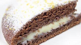 Простой шоколадный пирог с кремом / Рецепт вкусного пирога / Очень легкий рецепт пирога