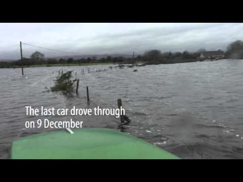 Reaching the Joyce farm in flooded Mayo