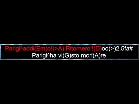 Parigi addio^Mino Vergnaghi (karaoke)