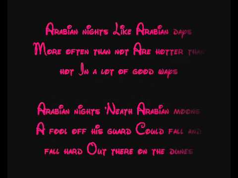 ALADDIN - DISNEY:ALADDIN ALBUM LYRICS