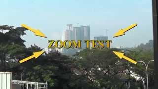 Zoom test panasonic HD camcorder model HC-MDH2.