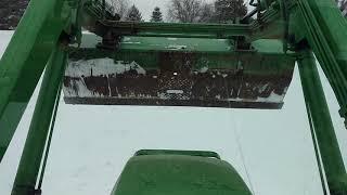 Pushing Snow With John Deere 4600