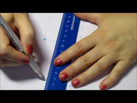 Как разметить канву для вышивки крестом видео