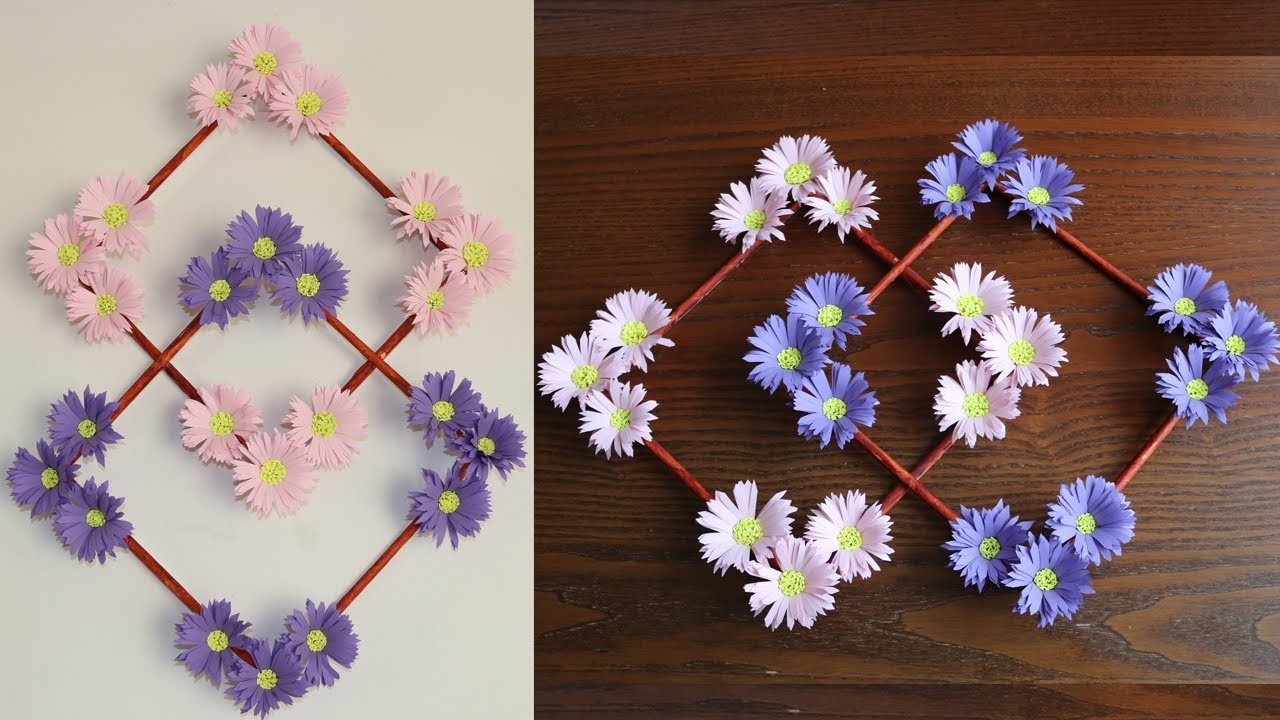 Paper flower wall hanging diy decoration ideas also rh youtube