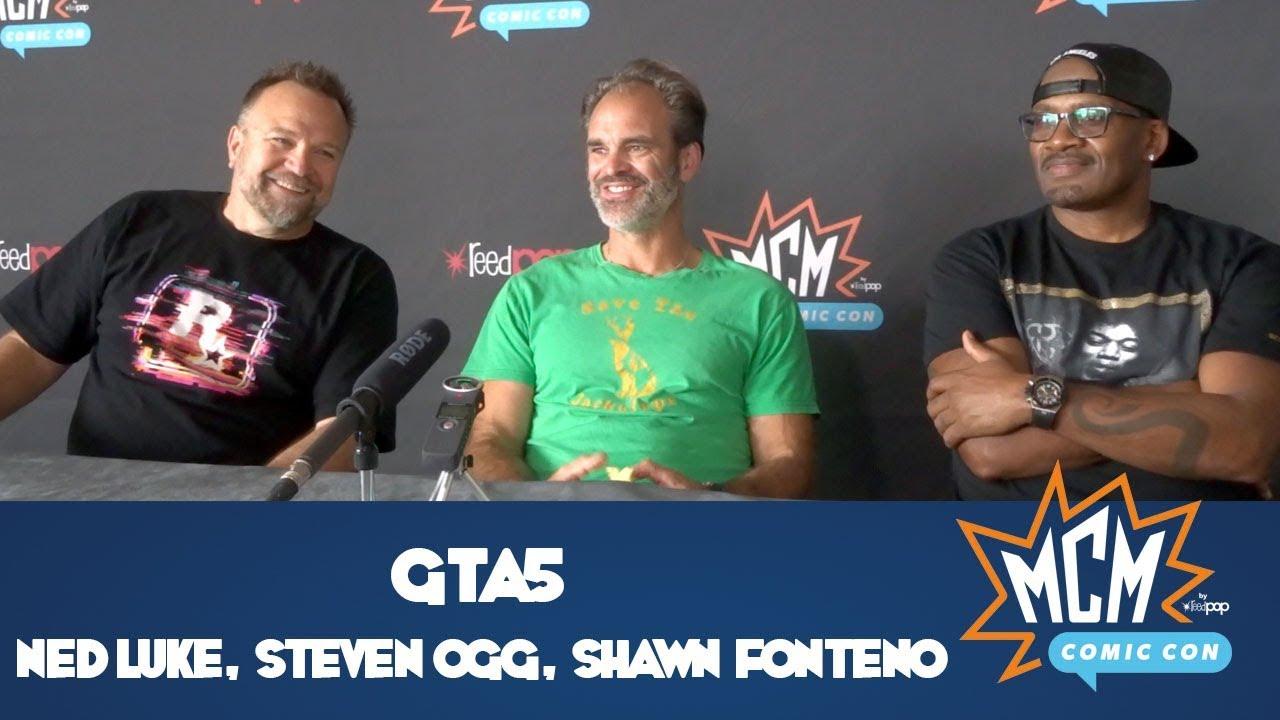 GTAV Interview with Steven Ogg, Ned Luke & Shawn Fonteno - MCM Comic Con  London - May 2018 - YouTube