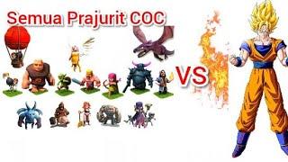 Super Goku VS All Troops Heroes COC !!!!!