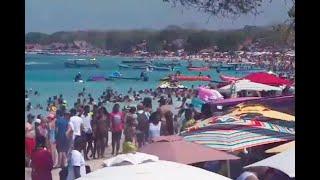 Cerraron Playa Blanca: no le cabía un turista más