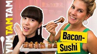 Wir kombinieren SUSHI mit BACON! // Herzhaftes Bacon-Sushi // #yumtamtam