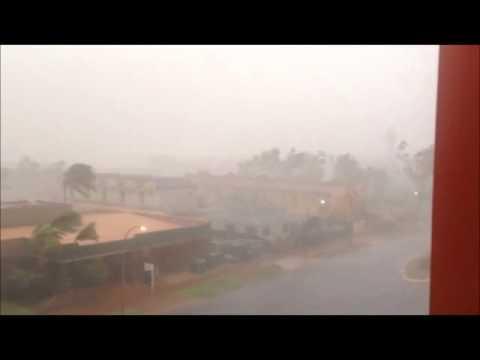 Cyclone Christine Hits Port Hedland Australia Youtube