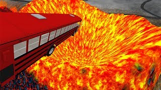 Jumping In Volcano #6 BeamNG.drive