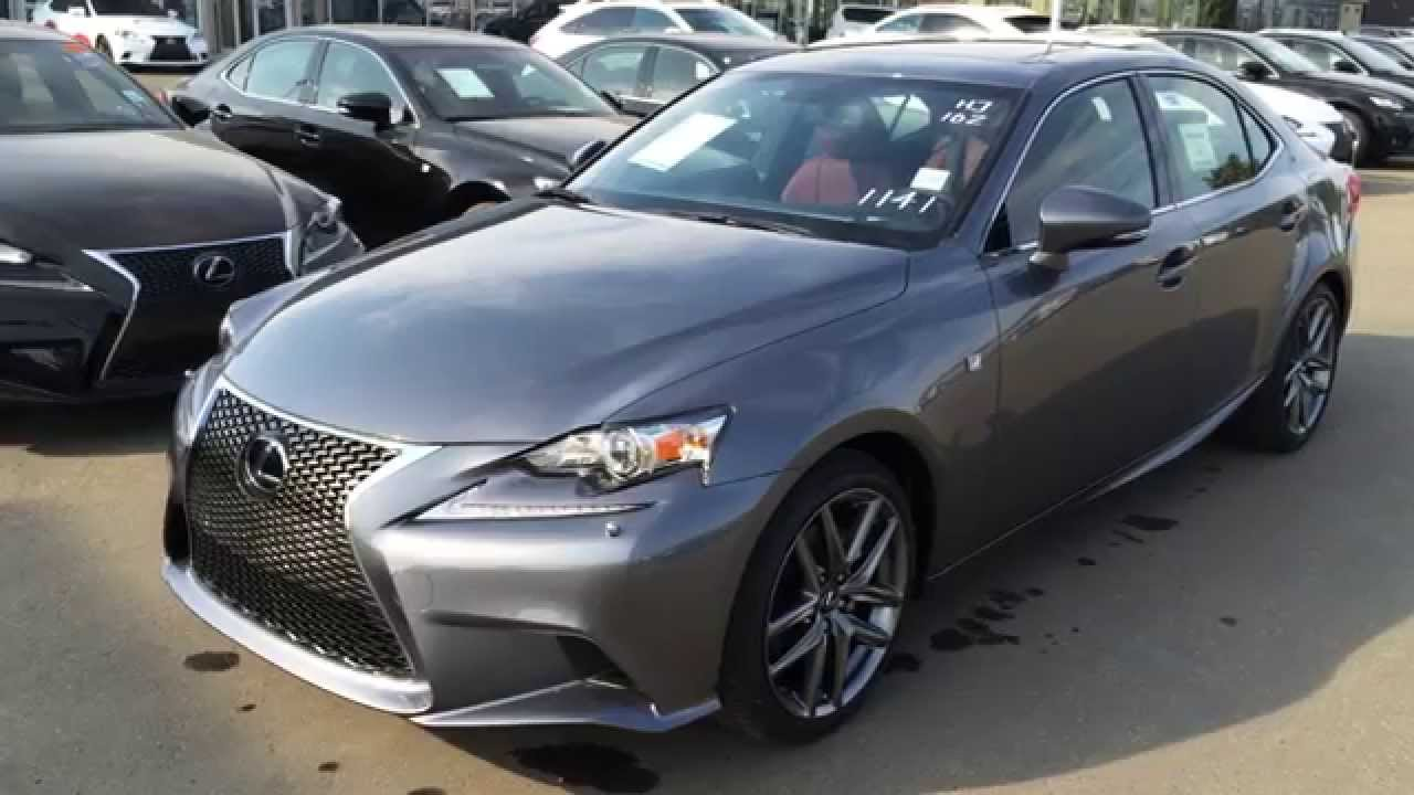 New Grey On Rioja Red 2015 Lexus IS 250 AWD F Sport Series 3 Walk Around  Review   Downtown Edmonton   YouTube