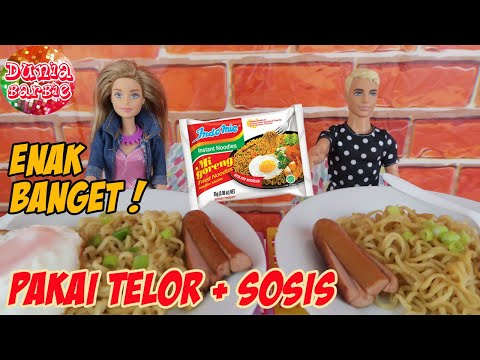 Barbie Main Masak Masakan Beneran Ken Makan Indomie Goreng Spesial Mainan Anak Perempuan Youtube