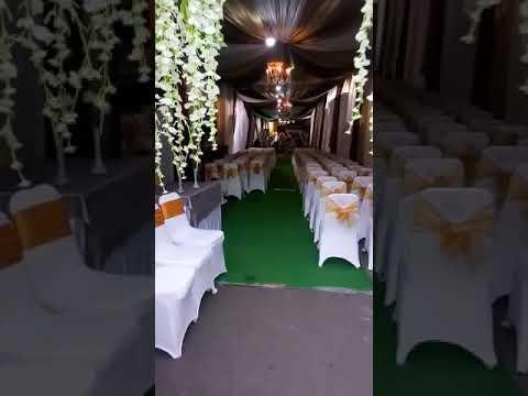 dekorasi tenda pernikahan rumah - youtube