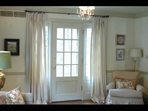 back door window treatment