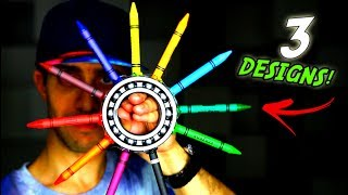 HOW TO MAKE FIDGET SPINNERS USING CRAYONS!! SUPER COOL EDC HAND SPINNER DESIGNS