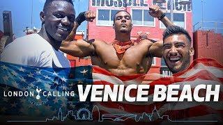 VICTOR WANYAMA AT MUSCLE BEACH | VENICE BEACH CHALLENGE | #SpursInUSA