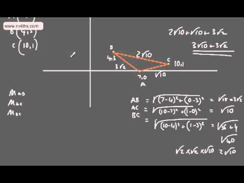 Core 1 - Coordinate Geometry (3) - Midpoint and distance formula & Length of line segment