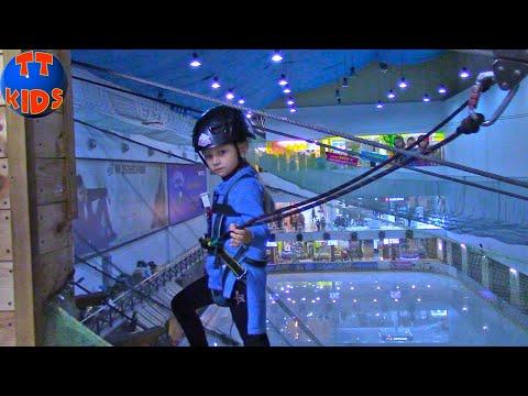 ВЛОГ в Веревочном Парке! Ярослава Альпинист покоряет троллейный спуск в новом видео для детей!