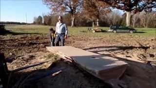 Stihl 090 And Granberg Alaskan Chainsaw Mill Slabbing Oak.