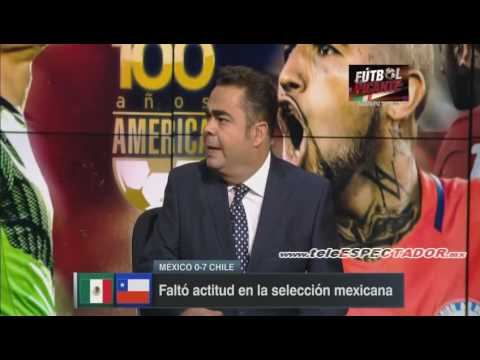Analisis del MEXICO vs CHILE - Cuartos Copa America 2016 - F