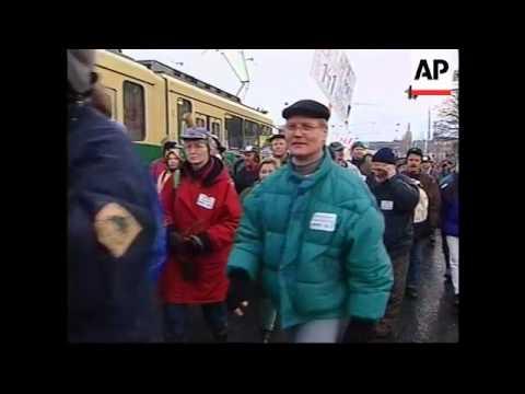 FINLAND: HELSINKI: EU SUMMIT: FARMERS PROTEST