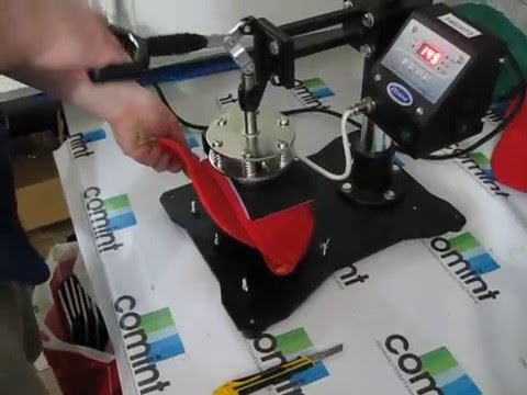 видео: Печать логотипа на кепке. Термоперенос флекса