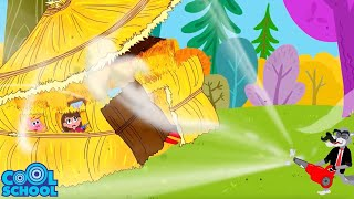The Three Little Pigs MEET THE BIG BAD WOLF! Animated Stories for Kids | Story Time with Ms. Booksy