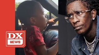 """Young Thug Reacts To  Of His Daughter Driving Car  """"It'll Be Handled Expeditiously"""""""