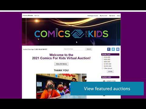 BiddingForGood Featured Items and Auctions