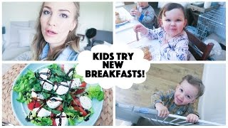 Kids Try New Breakfasts! | What I Ate Wednesday