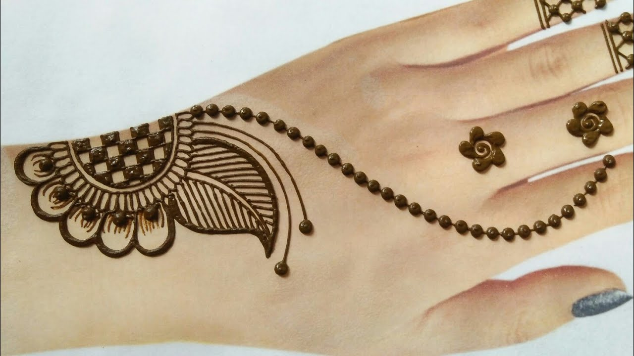 Very easy Rakhi 2020 Special jewellery mehndi for backhands   Simple stylish arabic mehndi design