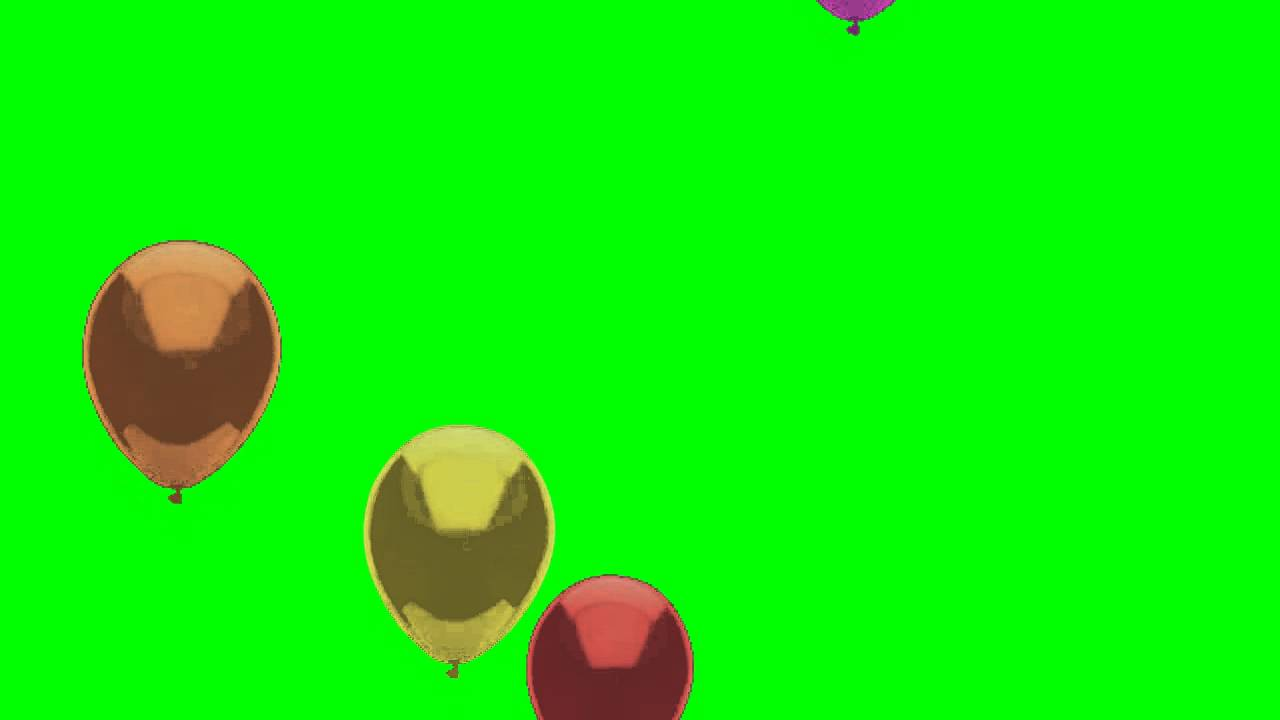 Birthday Balloons Fly Over Screen Animation