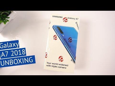 Samsung Galaxy A7 2018 Unboxing (Triple Camera Phone )[Urdu/Hindi]