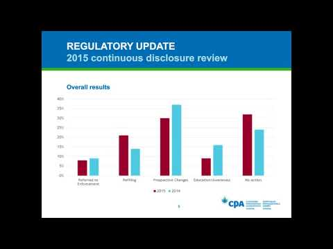 Canadian public company financial reporting update: Q3 2015